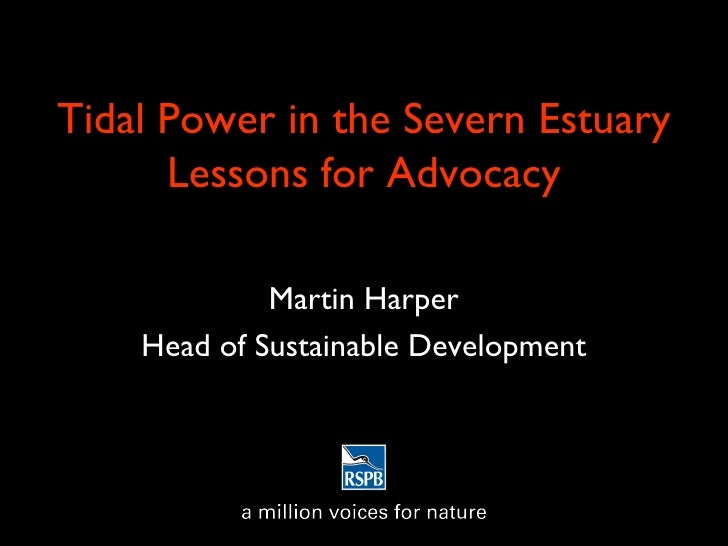 Tidal Power in the Severn Estuary Lessons for Advocacy Martin Harper Head of Sustainable Development
