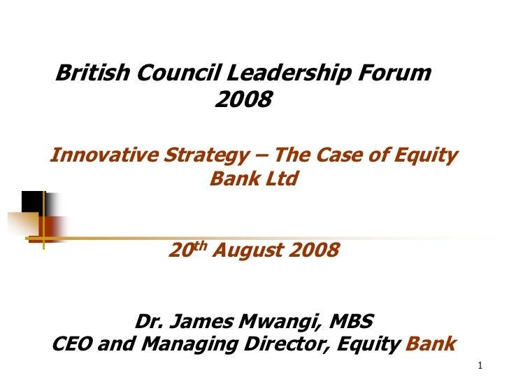 Equity Bank Presentation