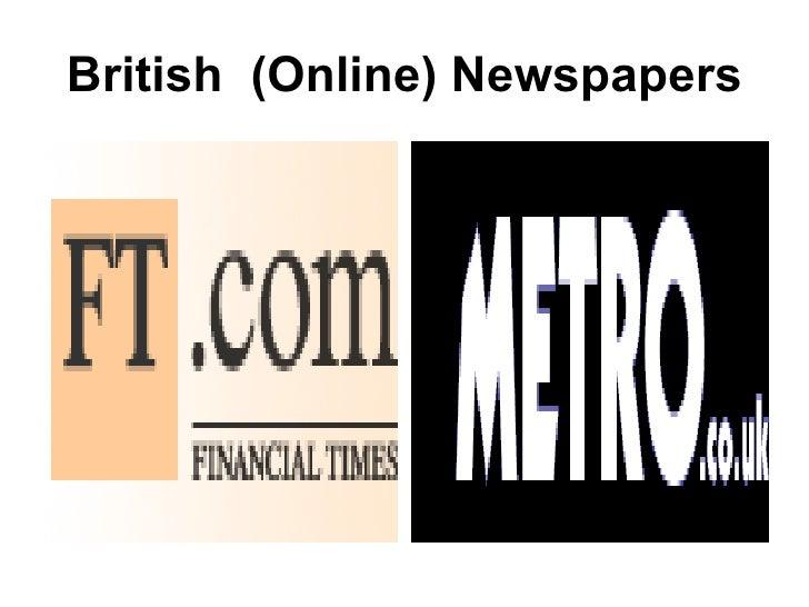 British  (Online) Newspapers