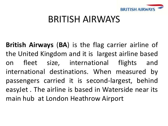 case analysis british airways Executive summary 3 11 structure of the european airlines industry.