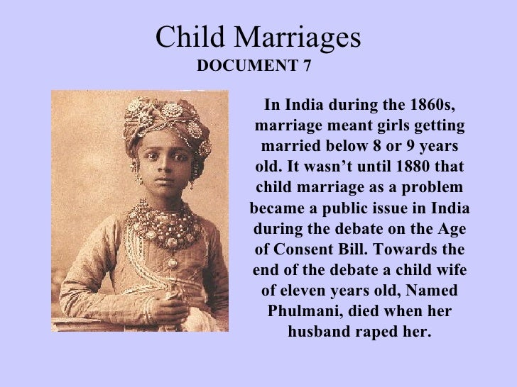 Child Marriages Essay