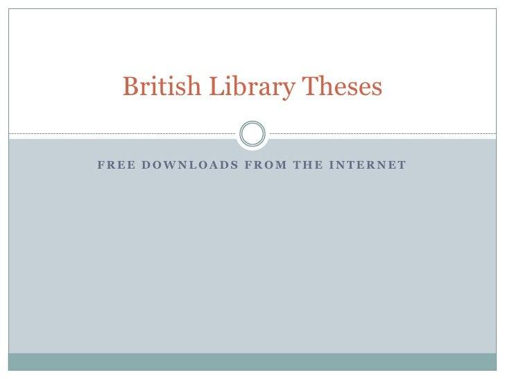 British thesis