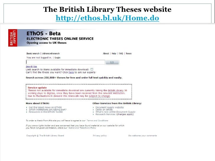 british library dissertations Dissertations & theses home  to search for georgetown theses and dissertations,  the british library's database of digitized theses from uk higher education.