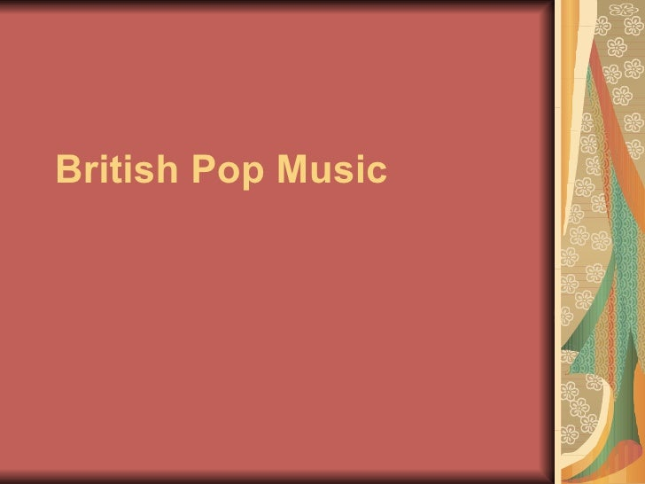 British Pop Music