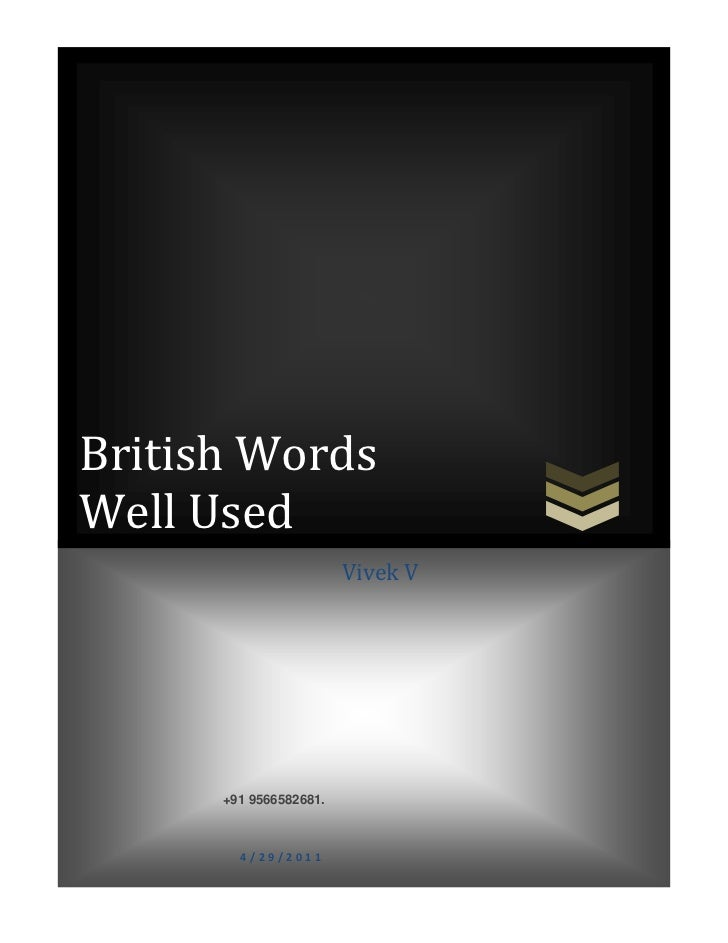 British words well used