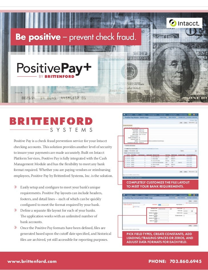 R      Be positive – prevent check fraud.                             S Y S T E M S  Positive Pay is a check fraud prevent...