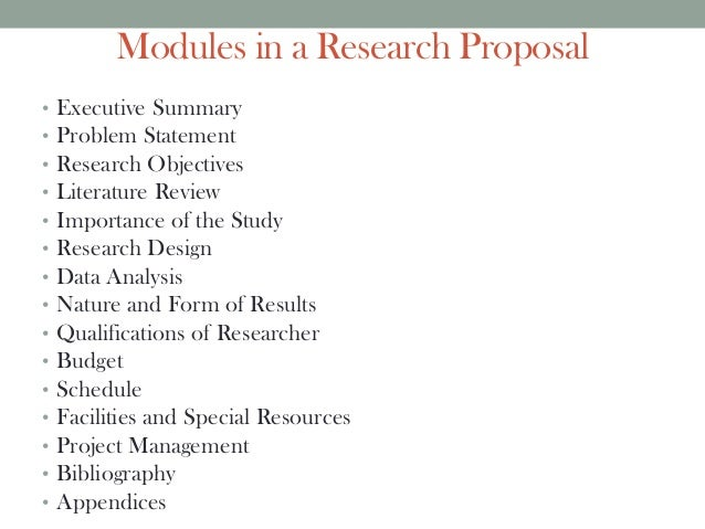 Research proposal form