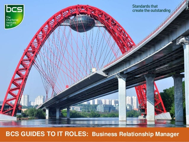 BCS GUIDES TO IT ROLES: Business Relationship Manager