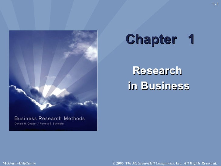 Fundamentals of  Research Methods Chap 1
