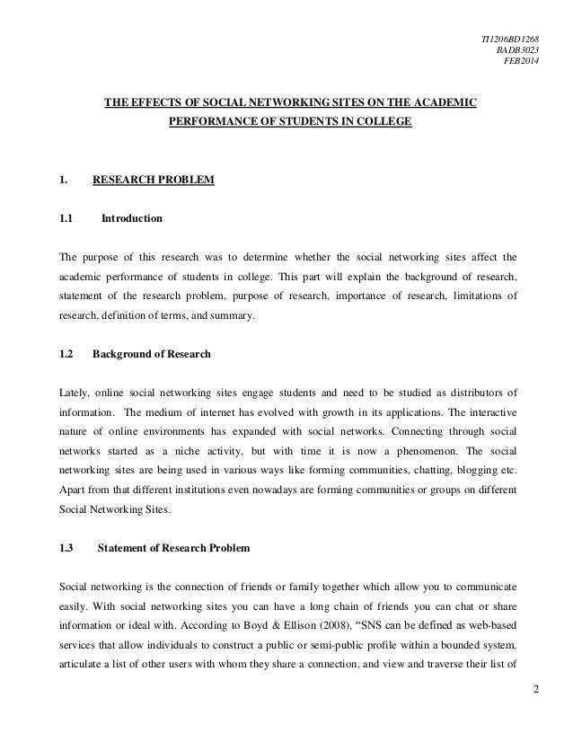 effect of social networking on academic performance Effects of social networking sites to the academic performance of the dtte effects of social networking sites on the academic performance of students in college of applied sciences, nizwa, oman whitney sue thoene, 2012 impact of social networking sites on college students.