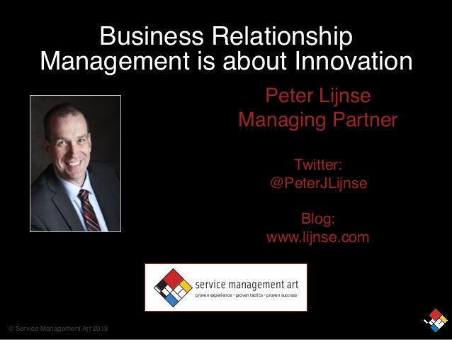 Business Relationship Management is about innovation