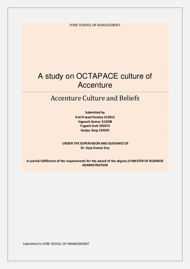 A study on OCTAPACE culture