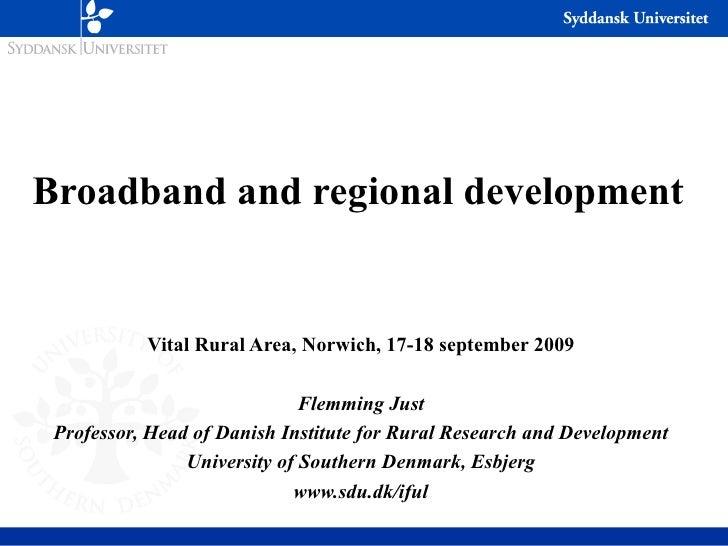 broadband and regional development