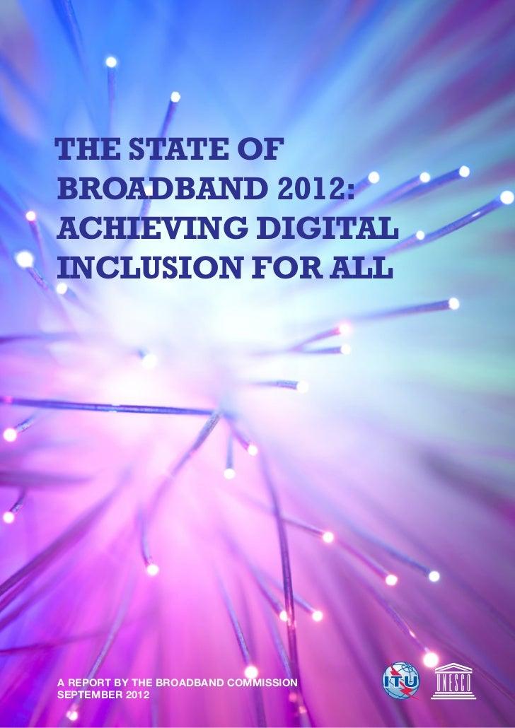 Broadband comission annual report 2012