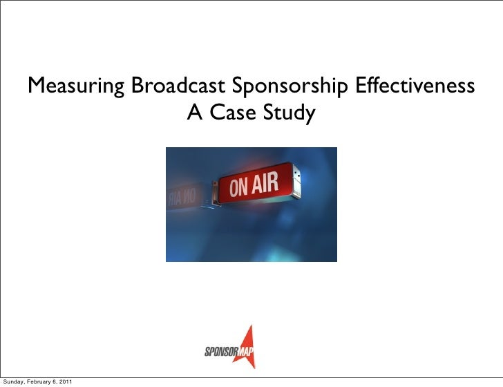 Measuring Broadcast Sponsorship Effectiveness