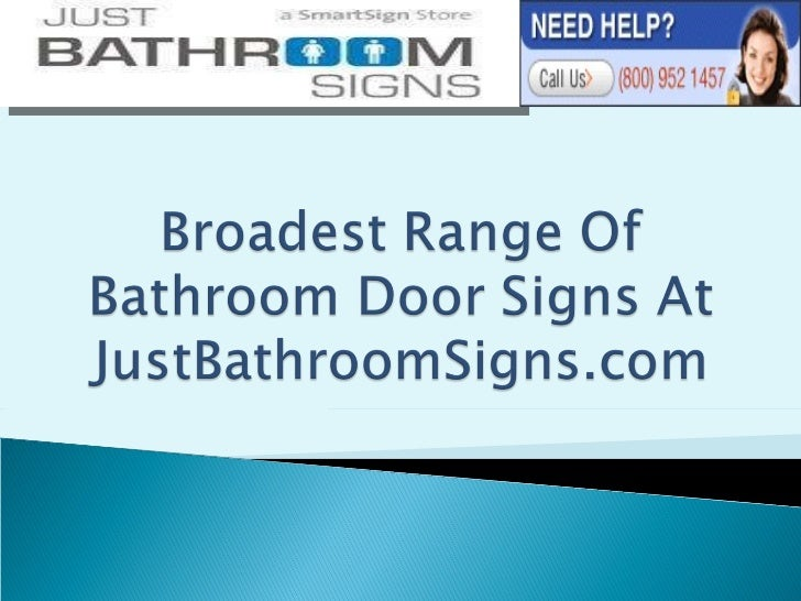 Broadest Range Of Bathroom Door Signs At JustBathroomSigns.com