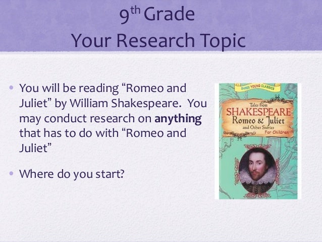 Research paper about shakespeare