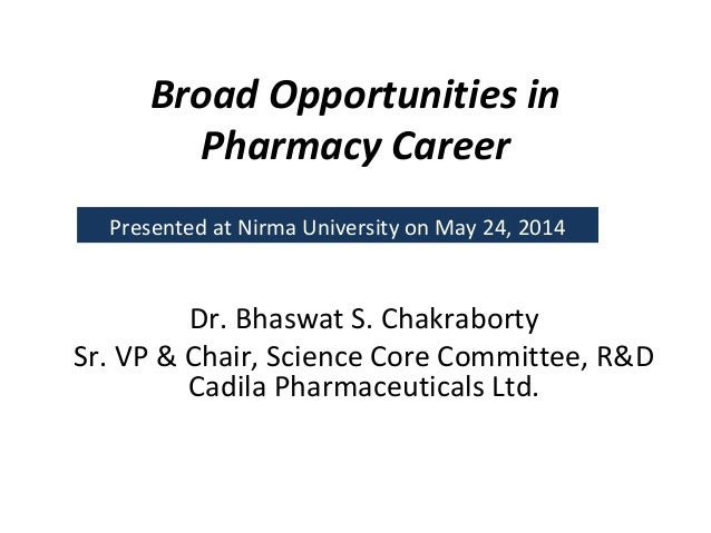 Broad opportunities for pharmacists