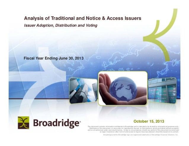   Copyright 20121 Broadridge and the Broadridge logo are registered trademarks of Broadridge Financial Solutions, Inc.Broa...