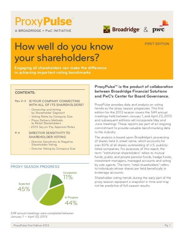 How well do you know your shareholders? Engaging all shareholders can make the difference in achieving important voting be...