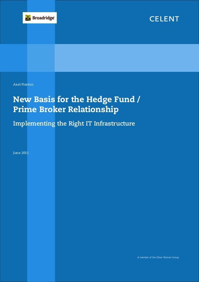 The New Hedge Fund-Prime Broker Relationship