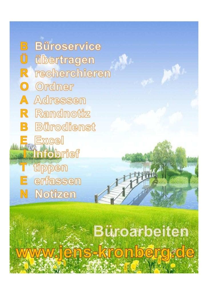 Büroarbeiten - BüroService Kronberg