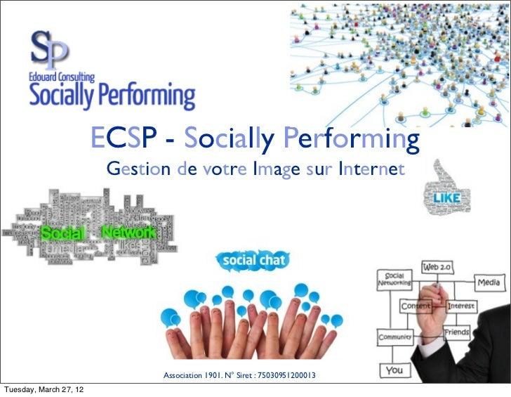 ECSP - Socially Performing                         Gestion de votre Image sur Internet                               Assoc...
