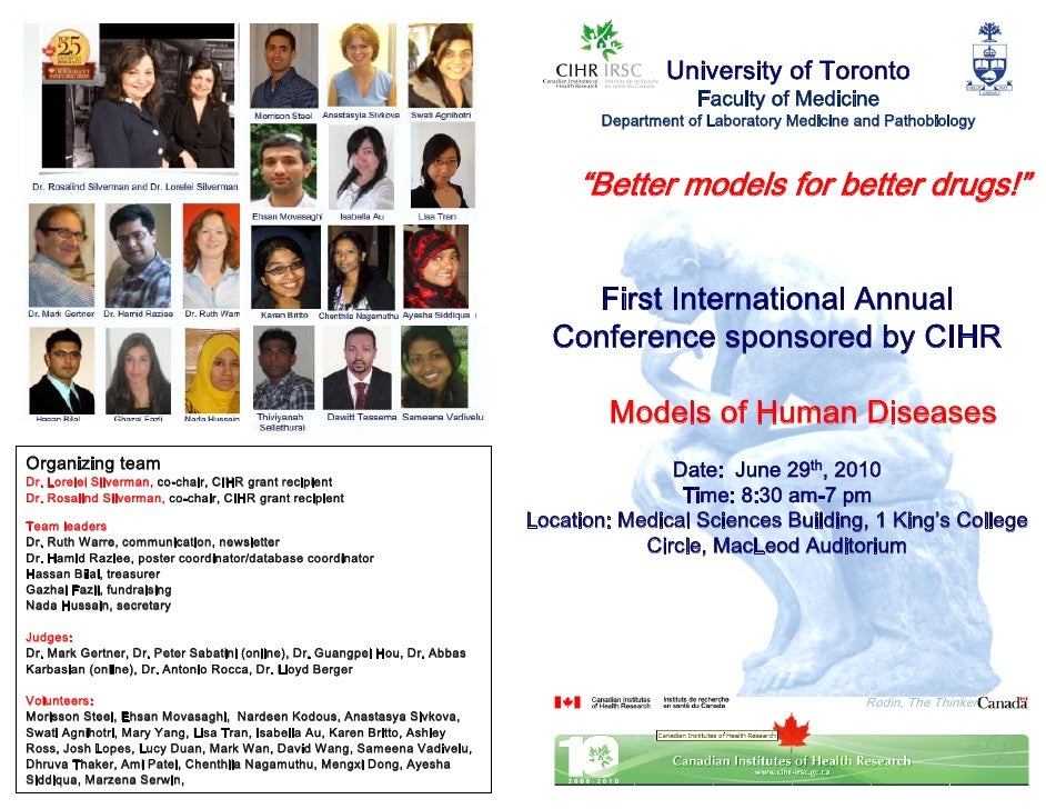 Models of Human Diseases Conference 2010 oral presentations abstracts