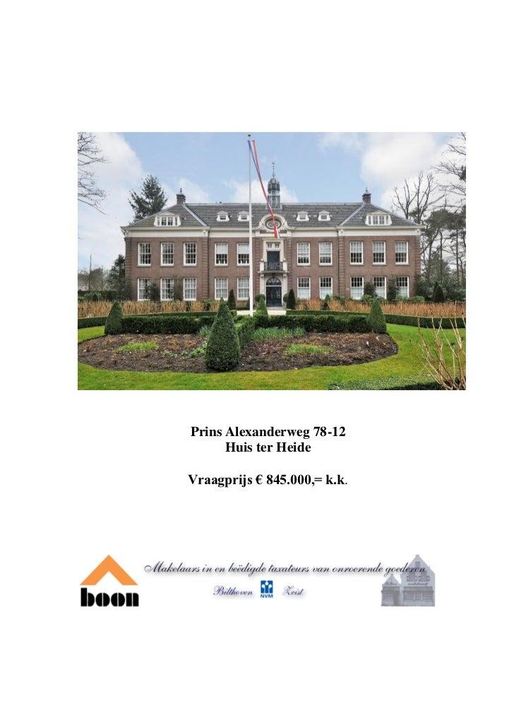 Prins Alexanderweg 78 12 Huis ter Heide (w