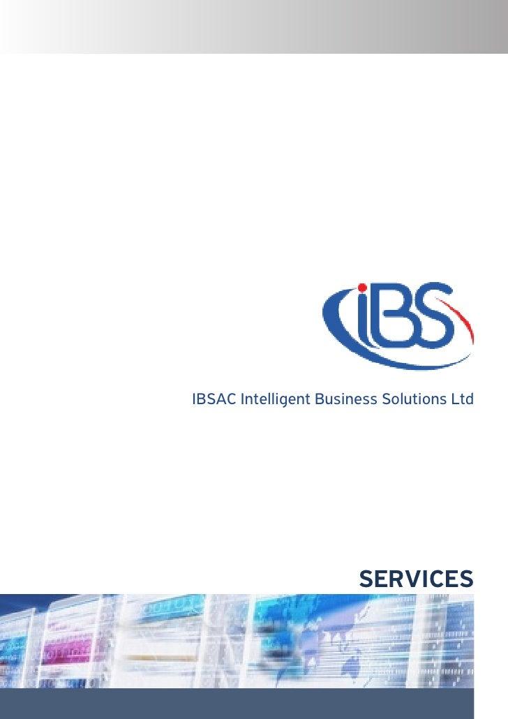 IBSAC Intelligent Business Solutions Ltd                       SERVICES