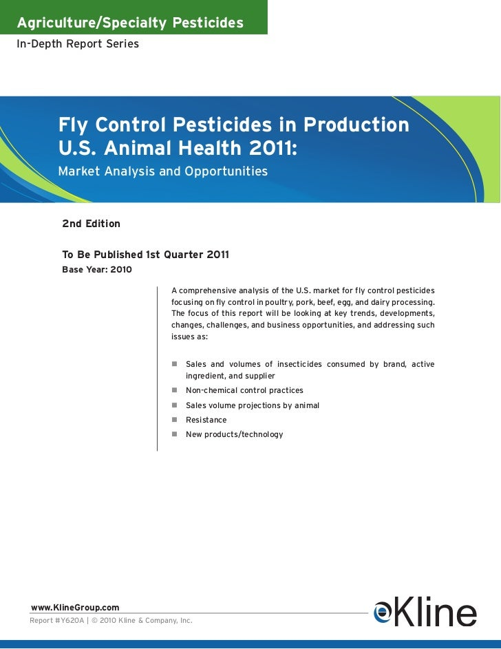 Fly Control Pesticides in Production, U.S. Animal Health 2011 - Brochure