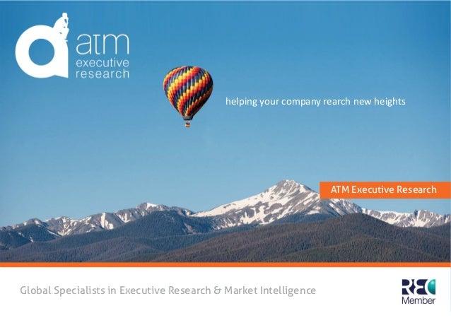 ATM Executive Research Brochure