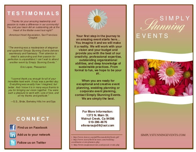 Brochure i made for Wedding planner brochure template