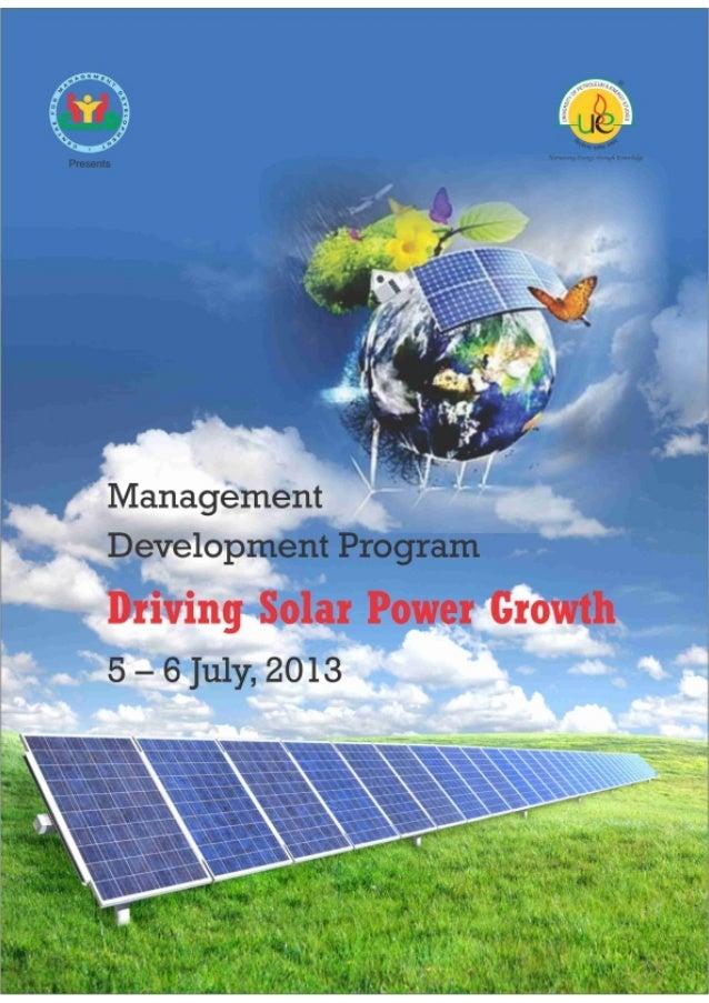 Management Development Program - Driving Solar Power Growth.