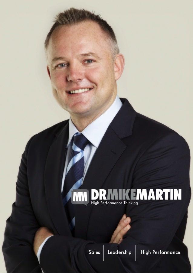 Dr Mike Martin Speaking Brochure