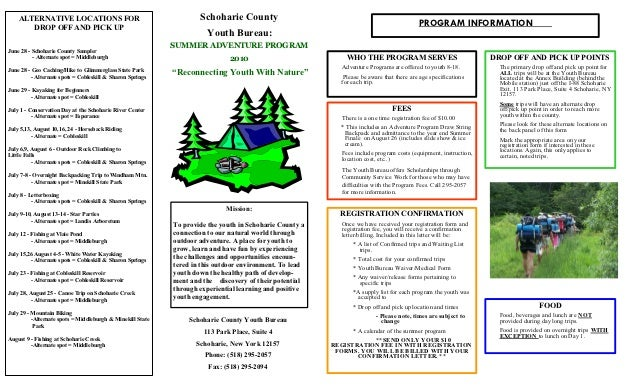 ALTERNATIVE LOCATIONS FOR                                       Schoharie County       DROP OFF AND PICK UP               ...