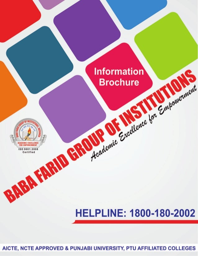 Information Brochure of Baba Farid Group Of Institutions.
