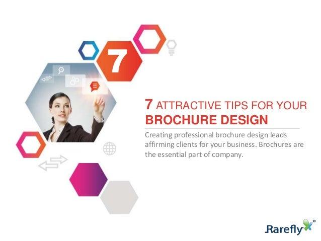 7 attractive brochure design tricks for Attractive brochure designs