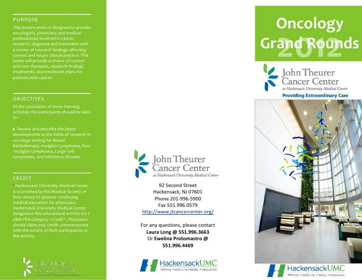 Grand Rounds Monthly Seminar Brochure