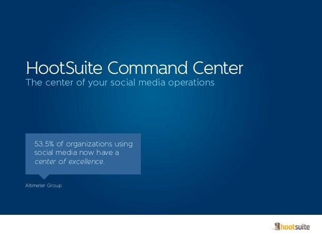 HootSuite Command Center Brochure