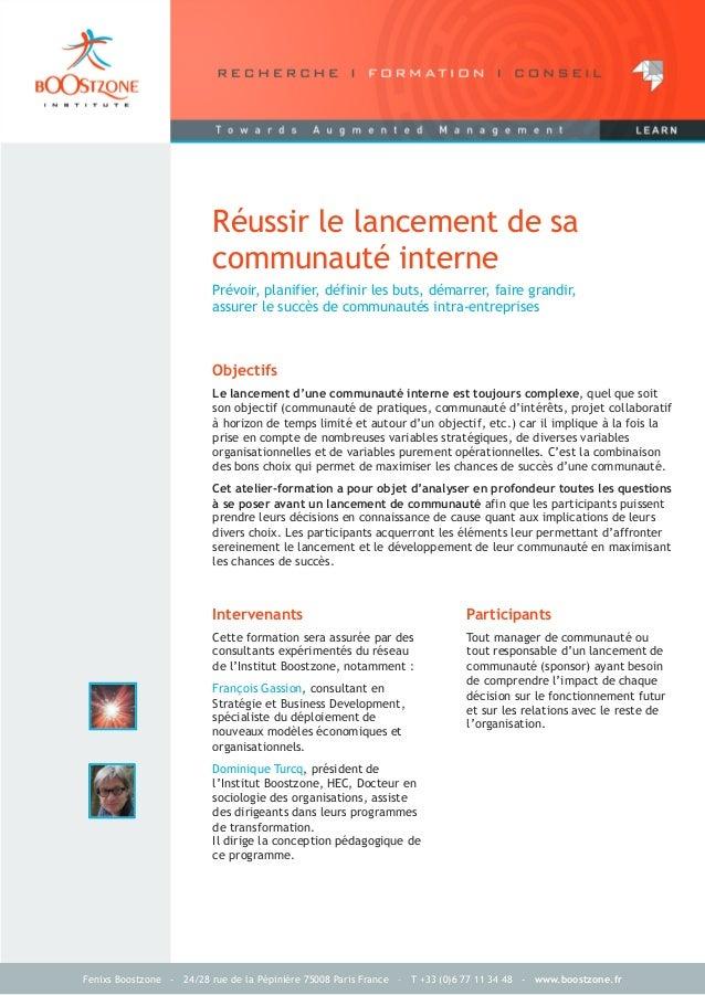 Brochure formation-institut-boostzone-reussir-lancement-communaute-interne
