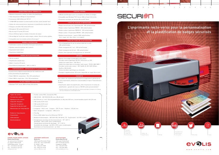 Brochure imprimante-securion