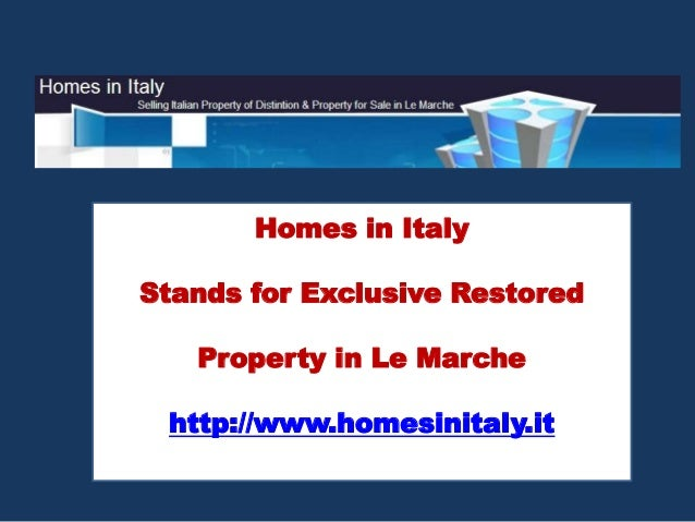 MarcheRustico - Italian Property For Sale in Le Marche Cessapalombo