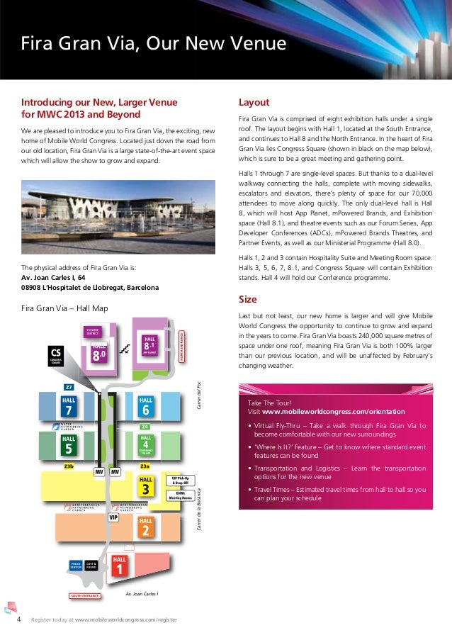 Fira Gran Via Floor Plan Events Barcelona Mobile World