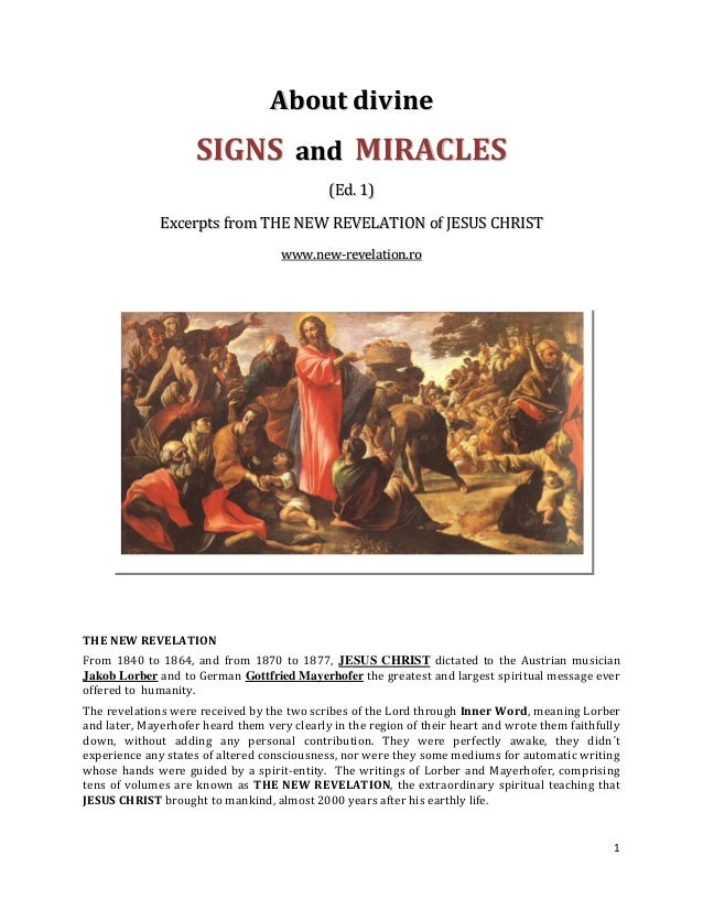 Brochure - NEW REVELATION - About Signs and Miracles from God - ed 1