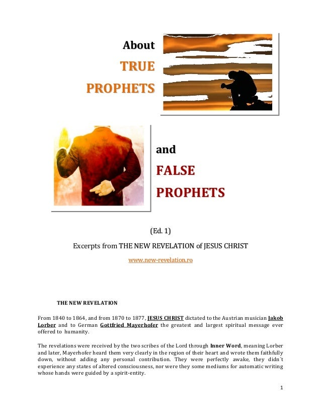 """true and false prophets True and false prophets - """"watch out for false prophets they come to you in sheep's clothing, but inwardly they are ferocious wolves by their fruit you will recognize them."""