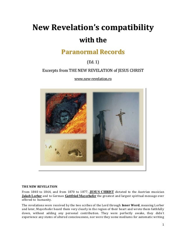 New Revelation's compatibility                                        wi th th e                           Paranormal Reco...