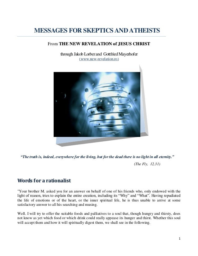 Brochure - New Revelation - Messages of the Lord for the Skeptics and Atheists