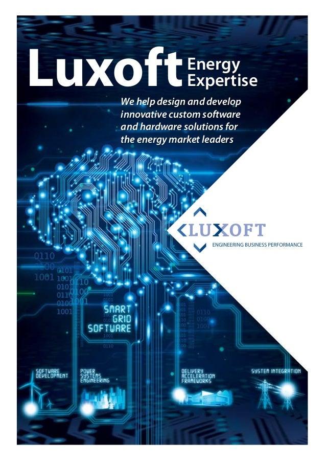Brochure of luxoft energy expertise by luxoft software development