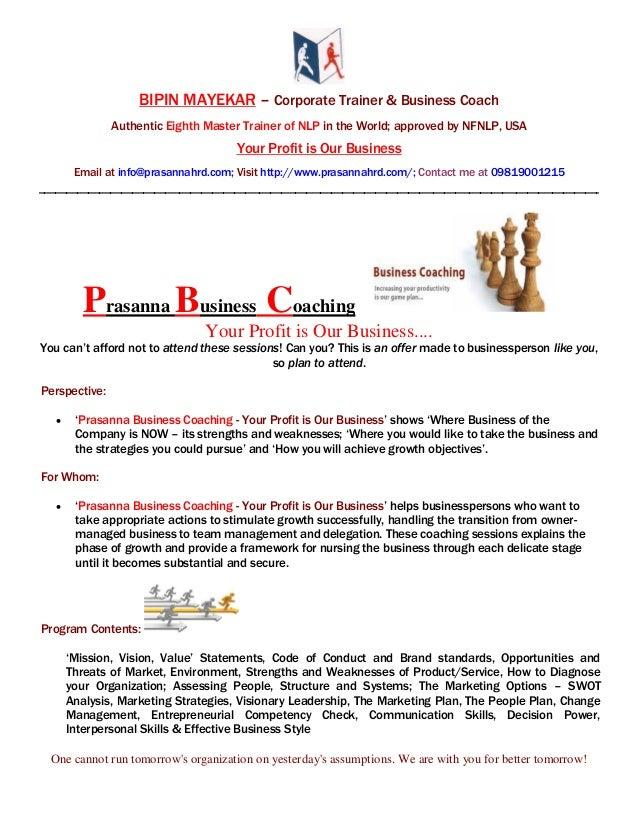 Brochure   prasanna business coaching